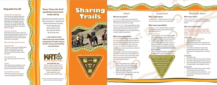 Photo of Sharing Trails brochure