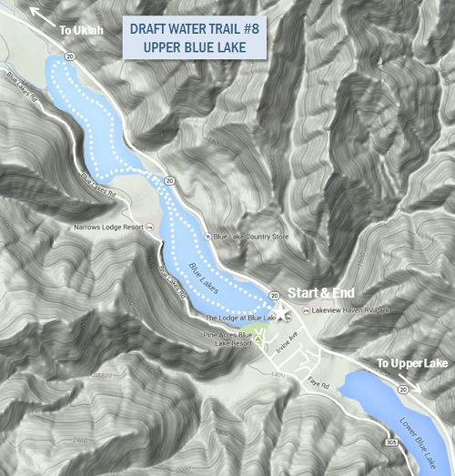 Draft Map of Upper Blue Lake Water Trail 8