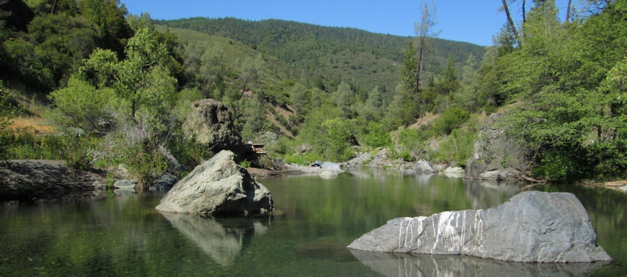 Photo of Eel River northeast of Lake Pillsbury, Snow Mountain Wilderness