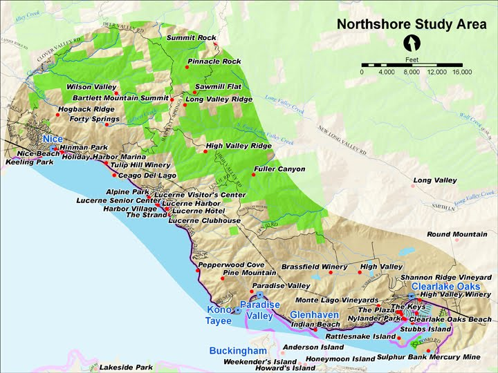Map overview of Northshore Study Area
