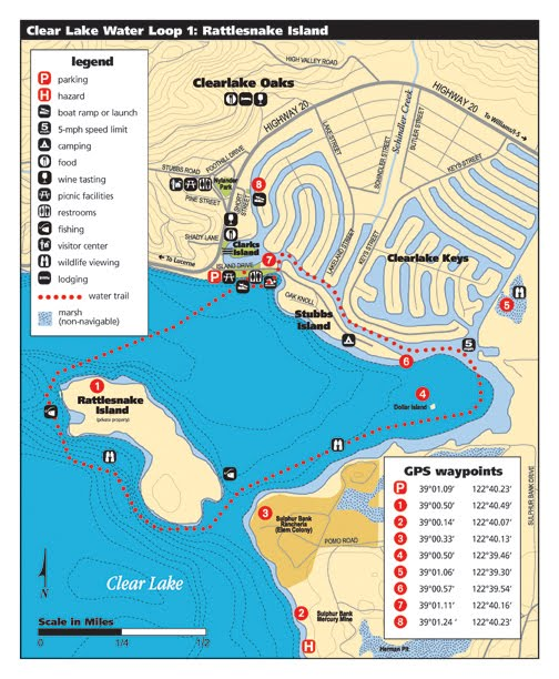 Water Trail Map of Rattlesnake Island