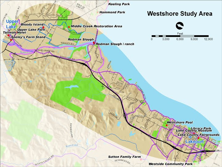 Map of Westshore Study Area